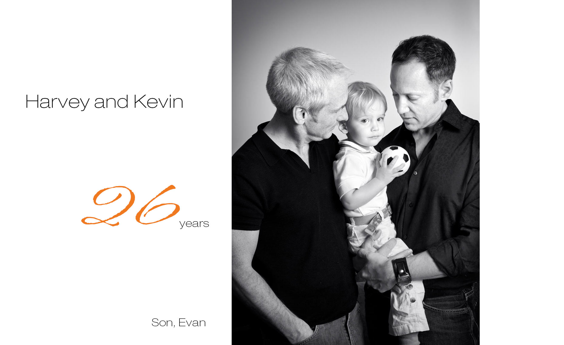 HarveyandKevin, together 26 years, First Comes Love,  LGBTQ Couple